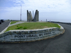 Point Udall is the easternmost point of the United States