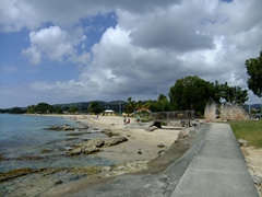 View of the closest beach to Frederiksted Harbor