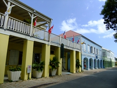 Beautiful architecture in scenic Frederiksted