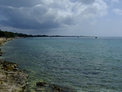 Looks like a storm is rolling in; Frederiksted Harbor