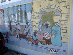 An interesting wall painting; Frederiksted