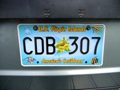 "US Virgin Islands license plate ""America's Caribbean"""