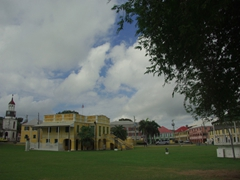 View of the Old Danish Customs House and Post Office, built in 1751 and converted to the Christiansted Library in 1926