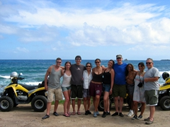 Robby, Shannon, Luke, Ann, Becky, Franny, Bob, Patricia, Kammi and Steve gather for a group shot on St Barts