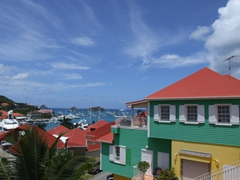 Lots of colorful cottages to be found in Gustavia harbor
