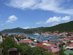 View of Gustavia from Fort Karl