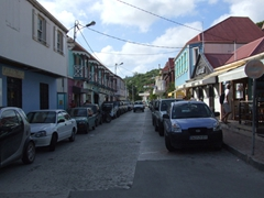 The sun is setting over Gustavia by the time we pull back into town at the end of our ATV ride