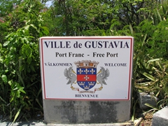 Welcome sign for Gustavia
