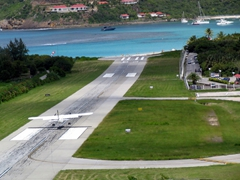 St Barts airport - one of the world's smallest runways