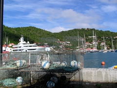 Fishing gear by the Gustavia harbor