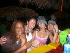 "Patricia, Becky, Kammi, and Franny having a blast at Sunshine's after one too many ""killer bees"""