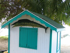 Beach shack on Oualie's Beach
