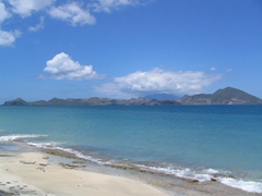 One of the many fine vistas from our Nevis bike ride