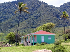 Colorful cottages dot the Nevian landscape