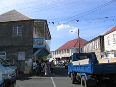 Downtown Charlestown has a bit more hustle n' bustle than the rest of Nevis