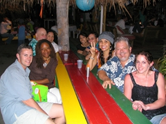 Robby, Patricia, Bob, Ann & friends, Kammi, Uncle Bubba, & Shannon enjoying the night out at Sunshine's bar & grill