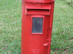 British style mail box; Lucaya