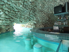 Swim up cave bar; Taino Beach Resort