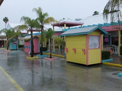 Port Lucaya Marketplace is deserted after a good drenching