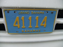 Grand Bahama license plate