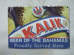 Kalik is the beer of the Bahamas