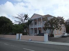 Massive Bahamian building; Nassau