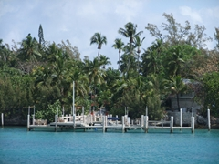 Every waterfront house has their own private dock; Nassau