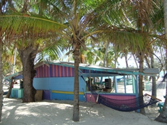 Colorful bar shack; Blue Lagoon Island