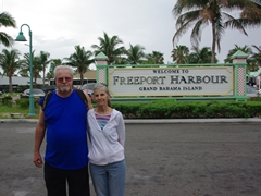 Bill and Laverne at Freeport Harbor