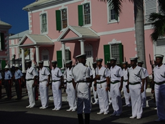 Inspection pre-march/parade; Nassau