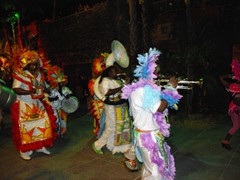 More colorful Junkanoo costumes