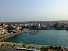 View of Oranjestad from the cruise ship pier