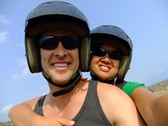 Wear your grungiest attire while ATVing in Aruba...you are bound to get DIRTY