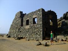 Becky at the Bushiribana Ruins