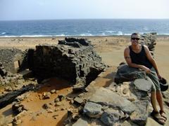 Robby poses atop the Bushiribana Ruins