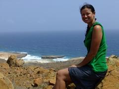 Becky enjoying the vista