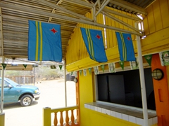 Aruban flags are proudly displayed all over the island