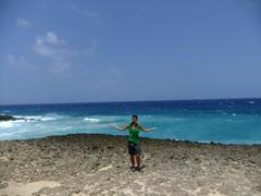 Aaah...the Caribbean blue of our dreams; Boca Prins