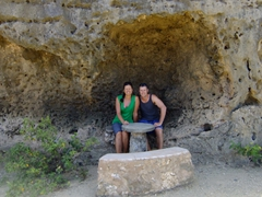 Sitting outside Fontein Cave