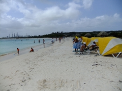 Baby Beach is one of Aruba's most popular...a shallow relaxing place to catch some rays