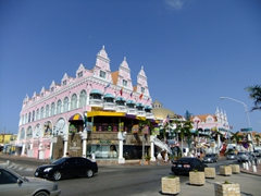 Oranjestad is a shopper's paradise...this pink monstrosity sure does catch one's attention