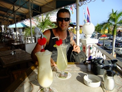 2-for-1 drink specials are hard to resist; Oranjestad