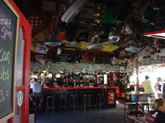 An inviting watering hole; Oranjestad