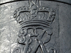 Detail of an old cannon; Fort George