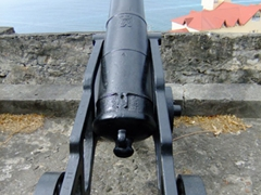 Fort George still maintains a battery of old cannons, which are used on special occasions