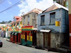 Grenada pride is visible throughout St George
