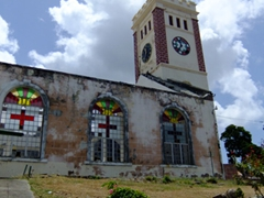 The St George Parish Church is undergoing a major reconstruction project to rebuilt the roof (destroyed during Hurricane Ivan)