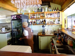 Strong drinks to be had at the bar at the Coconuts Beach Restaurant; Grande Anse Beach
