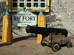 Rif Fort served as a 19th century fort that defended the harbor. Today its a lively venue of bars, restaurants and shops