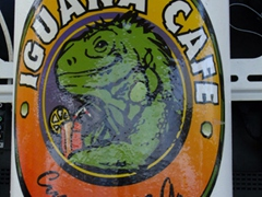 Sticker for the Iguana Cafe; Curaçao